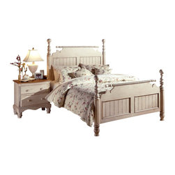 Hillsdale Furniture - Hillsdale Wilshire 2-Piece Poster Bedroom Set - The Wilshire bedroom displays both quality and craftsmanship. Each-piece features old world construction complete with corner blocking, wood on wood drawer glides, thick drawer sides with tongue and groove drawer bottoms, English dovetail construction and multi-step, hand-rubbed finishes. The Wilshire collection blends Americana and English country design elements to create a casual elegance perfect for any home. The collection abounds with options, offering three choices of beds, bookcase bed, panel bed (Both also offered with under bed storage option), or post bed, a large selection of case goods to mix and match.