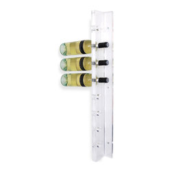 Gus Modern - Vertical Wine Rack - Enjoy a creative way to show off your burgeoning wine collection with this sleek-looking holder. It's the perfect addition to any kitchen, but you can also get a little bold and put your bottles on display in your living room. Easier access, at least.