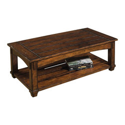 Hammary - Tacoma Rectangular Cocktail Table - Lift top. One storage shelf. Limited warranty. Assembly required. 48 in. W x 28 in. D x 19 in. H