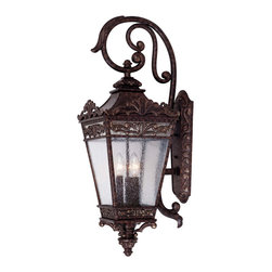 Savoy House - Savoy House 5-3306-56 Maguire Wall Mount Lantern - Exterior fixture finished in New Tortoise Shell with Clear Seedy glass.