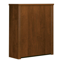 """Bestar - Embassy 30"""" Cabinet For Lateral File in Tuscany Brown - Embassy offers numerous configuration possibilities for various uses. Offering smaller desks, this collection is ideal for every type of workplace, including the home office. The cabinet offers two shelves (one of which is adjustable), and classic moldings. This unit must sit on the Embassy 30'' lateral file. This unit meets or exceeds ANSI/BIFMA performance standards. Also available in Cappuccino Cherry finish."""