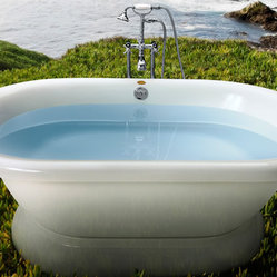 "Jacuzzi Era 7142 Free Standing Double Ended Soaker Tub 71"" x 42"" x 20"" - ERD7142"