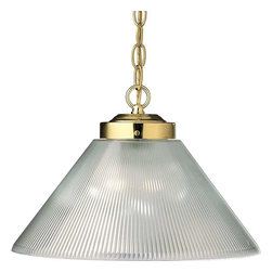 Progress Lighting - Progress Lighting P5127-10 Metal Shade 1 Light Pendant Light In Polished Brass - Progress Lighting P5127-10 Metal Shade 1 Light Pendant Light In Polished Brass