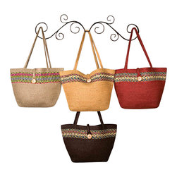 "Earth Rugs - Natural Tote Bag (21""x14"") - Our Jute products are crafted with sustainably harvested jute, a fast-growing, renewable natural fiber. The jute is then hand braided into unique patterns."
