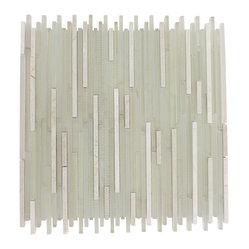 Breeze Stylus Crema Ice Pattern Random Glass Tiles