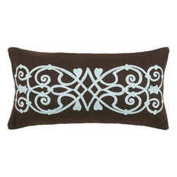 Rizzy Home - Brown and Blue Decorative Accent Pillows (Set of 2) - T03832 - Set of 2 Pillows.