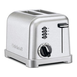 Cuisinart - Cuisinart CPT-160FR Classic Brushed Stainless Steel Toaster (Refurbished) - Complement your kitchen with an attractive toaster Kitchen appliance offers 1.5-inch slots and extra-lift carriage lever Toaster features reheat, defrost and bagel buttons