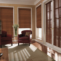 "Levolor 2"" Premium Wood Blinds in Auburn - Levolor 2"" Premium Real Wood Blinds bring the warmth, beauty and elegance of nature into your home. You will be able to choose from an exciting range of styles, finishes and colors to ensure these Levolor wood blinds match your home decor exactly."