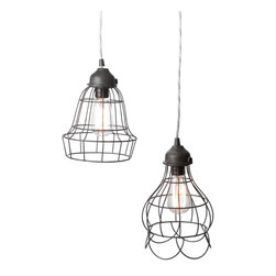 Wire Rose Pendant Light - Great price and cute shapes.