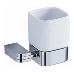 Fresca - Fresca Solido Tumbler Holder - Chrome - All of our Fresca bathroom accessories are made with brass with a triple chrome finish and have been chosen to compliment our other line of products including our vanities, faucets, shower panels and toilets.  They are imported and selected for their modern, cutting edge designs.