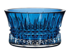 """Waterford - Waterford """"Lismore Diamond"""" Sapphire Nut Bowl - A radiant addition to a coffee table or home bar, this petite nut bowl is dressed in the signature diamond cuts of Waterford's """"Lismore Diamond"""" pattern. Or use it to hold cufflinks, pocket change, earrings, and the like on a desk or vanity. Made of sa..."""