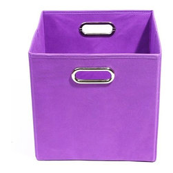 Modern Littles - Color Pop Solid Purple Folding Storage Bin - Pack 'em up! Your kids will love to keep their toys in this fun, colorful storage bin. It easily slides under beds or cribs and folds flat for easy storage.