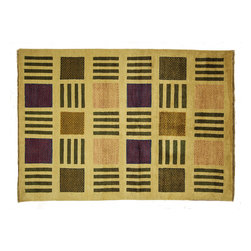 Manhattan Rugs - Modern Veg Dye Ivory Gabbeh Lori Buft Area Rug Hand Knotted Pure Wool H6293 - Gabbeh rugs are made by nomads in south-central Iran, and feature hand-spun wool in both the pile and the foundation, as well as all natural dyes. Simple, colorful geometric patterns, abstract scenery, child-like representations of people and animals, different  colors, reds, blue, greens ,yellow, purple. Modern technology has improved the dye process to allow a wider range of colors as well as more stable and easier to care for colors. Gabbeh rugs are hand-knotted ( handmade ) thick Persian rug with long soft wool pile. Gabbeh like many other types of Persian rugs is made with local handspun wool and vegetable dye.