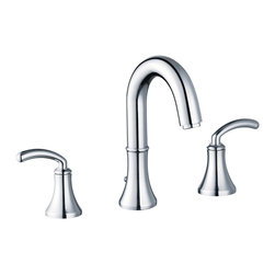 Yosemite Home Decor - Two Handle 8-Inch Widespread Lavatory Faucet with Pop-Up Drain - Washerless Cartridge Two Handle Lavatory Faucet with Pop up Drain Polished Chrome