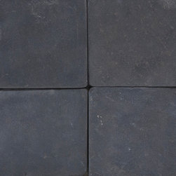 Black 4 x 4 Tumbled - MFD Tile - Black 4 x 4 Tumbled - MFD