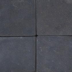 Black 4X4 Tumbled -Mfd Tile - Black 4X4 Tumbled -Mfd