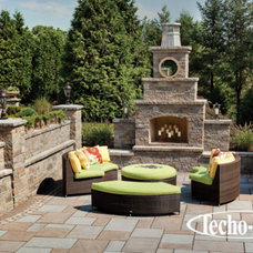 Contemporary Fire Pits by Techo-Bloc
