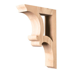 Hardware Resources - Alder Bar Brackets Traditional Corbels - Solid Wood Bar Bracket. 1-7/8In. x 7-1/2In. x 10-1/2In..