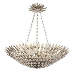 Crystorama Lighting - Crystorama Lighting 519-SA Broche Eclectic Pendant in Antique Silver - Crystorama Lighting 519-SA Broche Eclectic Pendant In Antique Silver