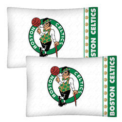 Store51 LLC - NBA Boston Celtics Basketball Set of Two Pillowcases - FEATURES: