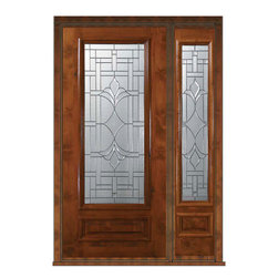 "Pre-hung Side light Door 80 Wood Alder Marsala 1 Panel 3/4 Lite Glass - SKU#    E08572-G-DE34M1-1Brand    GlassCraftDoor Type    ExteriorManufacturer Collection    3/4 Lite Entry DoorsDoor Model    MarsalaDoor Material    WoodWoodgrain    Knotty AlderVeneer    Price    4025Door Size Options      +$percentCore Type    Door Style    Door Lite Style    3/4 LiteDoor Panel Style    1 PanelHome Style Matching    Door Construction    EstanciaPrehanging Options    PrehungPrehung Configuration    Door with One SideliteDoor Thickness (Inches)    1.75Glass Thickness (Inches)    Glass Type    Triple GlazedGlass Caming    Oil Rubbed Bronze , Satin NickelGlass Features    Tempered , BeveledGlass Style    Glass Texture    Glass Obscurity    Door Features    Door Approvals    Wind-load Rated , SFI , TCEQ , AMD , NFRC-IG , IRC , NFRC-Safety GlassDoor Finishes    Door Accessories    Weight (lbs)    418Crating Size    25"" (w)x 108"" (l)x 52"" (h)Lead Time    Slab Doors: 7 Business DaysPrehung:14 Business DaysPrefinished, PreHung:21 Business DaysWarranty    One (1) year limited warranty for all unfinished wood doorsOne (1) year limited warranty for all factory?finished wood doors"