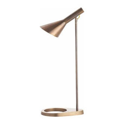 Arteriors - Arteriors Home - Wilton Desk Lamp - 46766 - Vintage brass desk lamp with open base and turn switch. A perfect finishing touch to any office space.