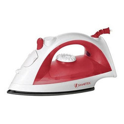 Smartek USA - Steam Iron Red - ST-1200 Smartek Steam Iron with red finish... Steam or dry ironing; Variable steam control; Adjustable heat setting; Burst of steam; Water spray mist; Self clean w/anti clogging valve; Non-stick soleplate; Heat indicator light; Transparent water tank; Built-in water cover; 1200 watts; Swivel cord.  This item cannot be shipped to APO/FPO addresses. Please accept our apologies.