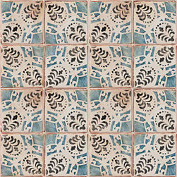 Terra Cotta - Tiempo - Ann Sacks Tile & Stone - These hand-painted terra cotta tiles are amazing - and the company that makes them has mastered the art of the patina, making them look like they've been distressed from centuries of use. A variety of patterns and color combinations and sizes are available - good luck picking a favorite!