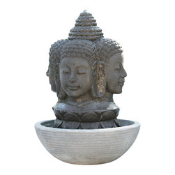 Four Faces Buddha Fountain - For grace and tranquility in the landscape...