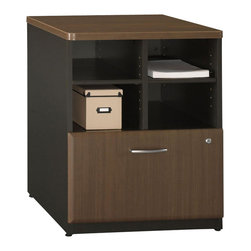 BBF - Bush Series A Storage Cabinet in Sienna Walnut/Bronze - Bush - Storage Cabinets - WC25523 - Features:
