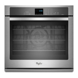 "Whirlpool - WOS92EC7AS 27"" Single Electric Wall Oven With 4.3 Cu. Ft. TimeSavor Ultra True C - The Whirlpool WOS92EC7A features an amazing 43 cu ft capacity This Single Wall Oven with True Convection Cooking will satisfy your every need"