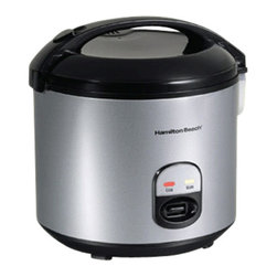HAMILTON BEACH BRANDS, INC. - Hamilton Beach Four to Twenty Cup Rice Cooker and Food Steamer - Hamilton Beach Four to Twenty Cup Rice Cooker and Food Steamer cooks four to 20 cups of rice with the push of a button. It comes with dishwasher safe nonstick bowl and includes steam tray, rice paddle with holder, measuring cup and sealed lid with dishwasher safe inner liner. It has a convenient paddle rest and automatic keep warm operation.