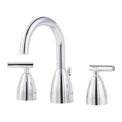 Price Pfister - Price Pfister Polished Chrome Bathroom Faucet - Update your bathroom decor with a new faucetFaucet features a polished chrome finishBathroom accessory boasts metal lever handles