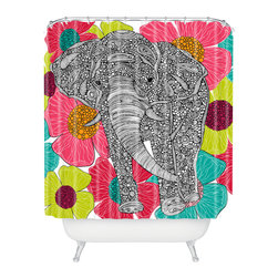 DENY Designs - Valentina Ramos Groveland Shower Curtain - Who says bathrooms can't be fun? To get the most bang for your buck, start with an artistic, inventive shower curtain. We've got endless options that will really make your bathroom pop. Heck, your guests may start spending a little extra time in there because of it!