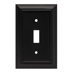 Liberty Hardware - Liberty Hardware 64219 Architectural WP Collection 3.15 Inch Switch Plate - A simple change can make a huge impact on the look and feel of any room. Change out your old wall plates and give any room a brand new feel. Experience the look of a quality Liberty Hardware wall plate. Width - 3.15 Inch, Height - 4.9 Inch, Projection - 0.2 Inch, Finish - Flat Black, Weight - 0.29 Lbs.