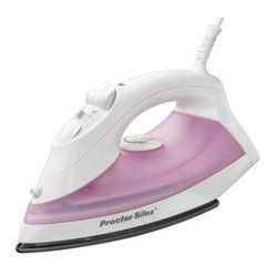 Hamilton Beach - PS Nonstick Iron Pink - From Proctor-Silex  this iron has a nonstick soleplate with concentrated steam vents for the toughest wrinkles.  It features adjustable steam  spray/blast  vertical steam and automatic shutoff.  This item cannot be shipped to APO/FPO addresses.