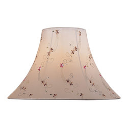 "Lite Source - Lite Source CH1165-18 Accessories Shades in Light Beige Jacquard - Light Beige Jacquard Bell Shade - 7""Tx18""Bx12.50""Sl"