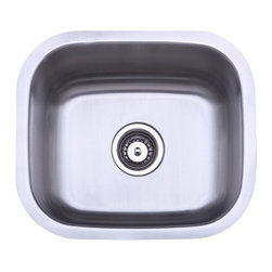 None - Stainless Steel 18-inch Undermount Kitchen Sink - Complete your kitchen remodeling project with this modern undermount kitchen sink. This stylish sink is made of heavy-duty stainless steel,which helps it to resist scratches,and it comes complete with all mounting hardware for easy installation.