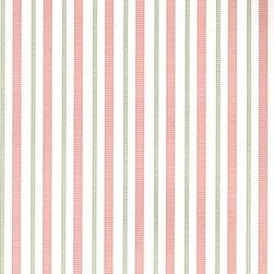 Mia Stripe - Rose - A gorgeous collection of mid-century and craftsman style wallpapers - The Ralph Lauren Family Places.