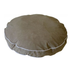 Carolina Pet Company - Microfiber Round About, Sage, 27 X 4 - Plush easy care microfiber fabric repels hair and dirt.  High loft recycled Polyester fill keeps pets happy and healthy by relieving pressure on hips and joints. Zippered removable cover for machine washing and drying.  Recommend warm setting with mild detergent and cool dry setting.