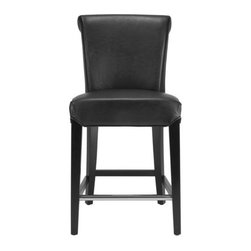 Safavieh - Safavieh Seth Counter Stool X-A9054RCM - The clean lines of the Seth Counter Stool make it just right for any home traditional to contemporary. Featuring a solid birch wood frame with a black finish, Seth offers comfortable seating at the just right height of 24 inches.