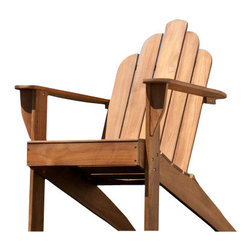 Holly and Martin - Soleil Teak Adirondack Chair - Take a moment to unwind in this beautiful take on the classic outdoor seat. This elegant and comfortable Adirondack chair is a masterpiece of outdoor furniture.