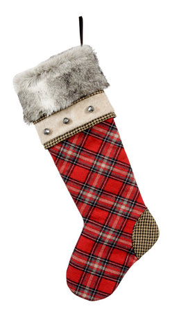 Winward Designs - Montana Stocking - A rare design, this christmas stocking is only one out of 4 different one-of-a-kind stockings in our collection. Premium quality guaranteed.