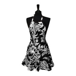 Cypress Home Felicia Apron, Black/White - This apron from Target is made with a black and white floral print that will make you want to cook a little bit more.