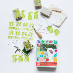 Year of Holidays Carve-A-Stamp Series // Yellow Owl Workshop - Our Year of Holidays Carve-A-Stamp kit comes with a slew of unique templates and an all surface ink pad that can be used to spruce up wrapping paper, gift tags, blankets, t-shirts and more!