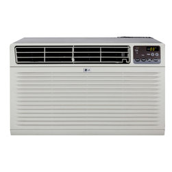 LG - LG LT103CNR 10,000 BTU Through-the-Wall Air Conditioner with Remote Control (230 - LG's LT103CNR 10,000 BTU 230-Volt Through-the-Wall Air Conditioner is perfect for medium size rooms up to 450 square feet. Keep your cool with this stylish and powerful wall unit. With the full-function remote and three cooling/fan speeds, you can control the temperature from across the room at your own pace. Plus, LG's patented Gold Fin anti-corrosion coating provides a protective shield so the unit lasts longer. This unit is designed for through-the-wall installation and is not designed for standard window installation. It has a universal fit for existing, standard 26-inch wall sleeves (new wall sleeve sold separately). This unit also requires a special 230V electrical outlet and will not operate with a standard 115V household electrical outlet.10,000 BTU air conditioner for through-the-wall installation (Not suitable for window installation)|Universal fit for existing, standard 26-inch wall sleeves (new wall sleeve sold separately)|Special 230V electrical outlet required (Unit will not work with a standard 115V outlet)|Cooling area up to 450 sq. ft.|Dehumidification up to 3.2 pints per hour|Gold Fin anti-corrosion coating provides a protective shield so the unit lasts longer|Full-function remote control|Thermistor thermostat|3 cooling speeds / 3 fan speeds for more cooling flexibility|12-hour on/off timer cools on your schedule|  lg| electronics| lt103cnr| 10000| 10|000| btu| 230v| 230| v| volt| volts| cooling| air conditioner| ac| a/c| through-the-wall| thru-the-wall| through|  Package Contents: air conditioner|remote control|2 AAA batteries|mesh filter|trim kit|manual/installation instructions|warranty  This item cannot be shipped to APO/FPO addresses