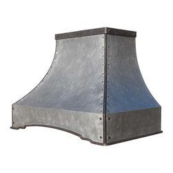 Zinc Range Hood | Arched Sweep | Vogler - Custom Zinc Arched Sweep Range Hood by Vogler Metalwork & Design.