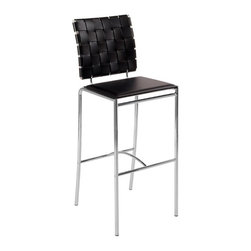 Euro Style - Euro Style Carina Woven Leather Bar Stool - Brown - Set of 2 - EUS984 - Shop for Stools from Hayneedle.com! Please note: This item is not intended for commercial use. Warranty applies to residential use only.