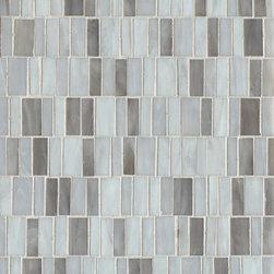 """Retrospect Glass - Color-Silver Mist Blend: 12""""x13"""" Random Mosaic"""