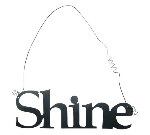 Inspirational Word SHINE Wall Hanging Home Decor Metal - This listing is for one inspirational word, SHINE